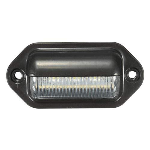 DressU Alto Brillo 10-30V 6 LED ABS Licenciamiento Número de Disparo Lámpara de Luz Lámpara Blanca para camión de Remolque Alto Rendimiento