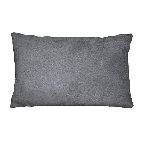 douceur d'intérieur 1604400 Coussin Suède Polyester/Fibre Anthracite 30 x 20 x 50 cm