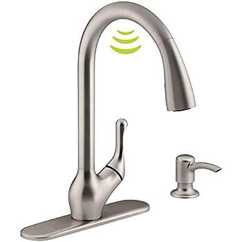 Kohler K-R78035-SD-VS Barossa Kitchen Sink Faucet Vibrant Stainless
