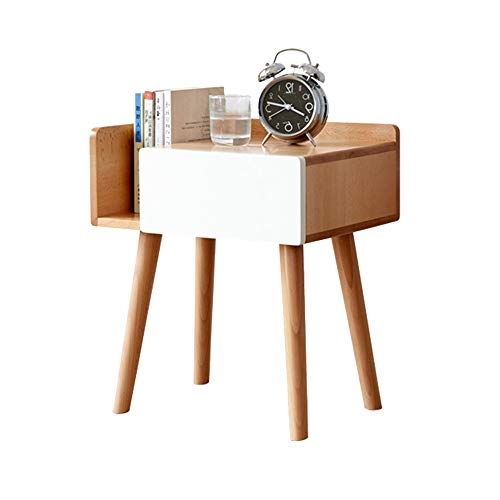 FUFU Mesa Pequeña Mesita de Noche, Armario, cajón, de Madera Maciza de la Mesa de Centro, diseño Moderno, Muebles de Dormitorio