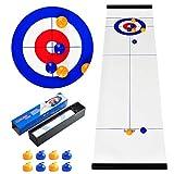 CS COSDDI Shuffleboard And Curling - Gioco da Tavolo, Gioco di Curling per Famiglie,Giochi di intrattenimento Giochi di società da Tavolo