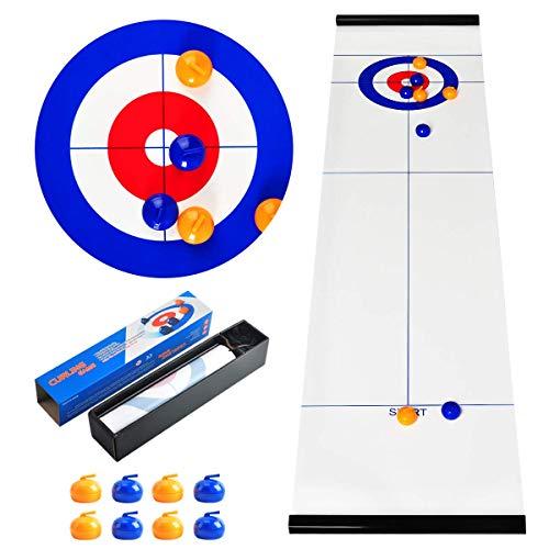 CS COSDDI Tabletop-Spiele, Curling-Spiel, tragbare Team-Brettspiele, Tabletop-Training Familienparty-Spiele für Kinder und Erwachsene in Innenräumen, Reisen