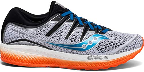 Saucony Men's S20462-3 Triumph ISO 5 Running Shoe, White | Black | Orange - 9.5 M US