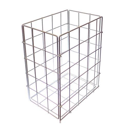 Sammelkorb Abfallkorb Metall weiss  klein  28,5 x 19 x 35,5 cm, Drahtgeflecht, Drahtgestell