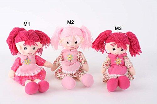 AVENUELAFAYETTE Poupée Enfant Tissu avec couettes - 40 cm (M1)