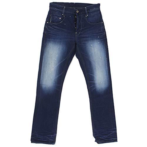 g-star raw Mens New Radar Slim Jeans Art 50740 Trousers (Waist 30 Leg 32, Pillar Denim Medium Aged 4644.071)