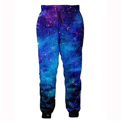 Hip Hop Jogger Hosen Unisex Streetwear Lange Hosen Jogginghose 3D Galaxy Print Trainingshose Herren Kleidung Multi S