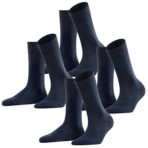 FALKE Damen Socken London Sensitive 4er Pack, Größe:35-38;Farbe:Navy Blue Melange (6499)