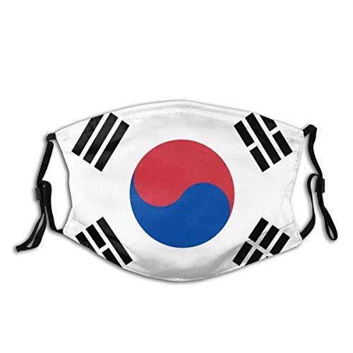 Mundschutz Südkorea-Flagge-Vektor-Isolat-Banner-1348586132 Waschbarer wiederverwendbarer Filter und wiederverwendbarer Mund Warmer winddichter Gesichtsschal