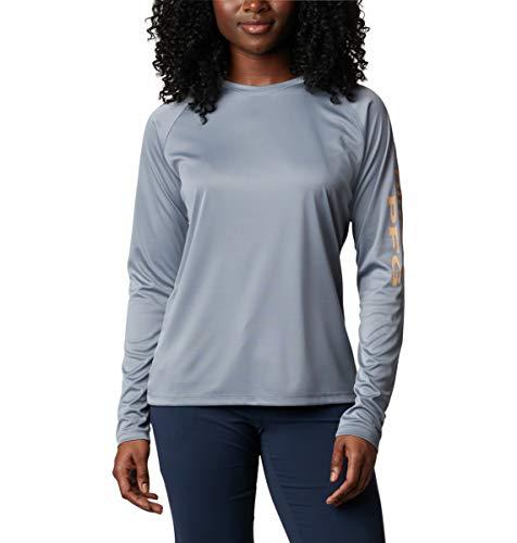Columbia PFG Tidal tee II - Camisa de Manga Larga para Mujer, Transpirable, Secado rápido