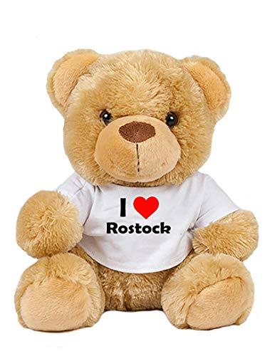 Teddy - I love Rostock - Plüschbär Rostock