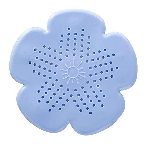 PIJN Bodenablauf Haar Flusensieb Werkzeug Ablaufloch Stopper 5PCS Badezimmer Saugnapf Silikagel-Waschbecken, Badewanne Abfluss-Schutz (Color : Blue, Size : 15.5x15.5cm)