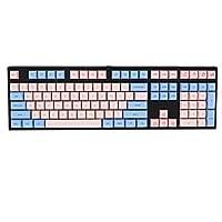メカニカルキーボード用キーキャッププラー 61/64/67/68 / 87/96/104/108ピースのキーボードEthermal染料の昇華フォントPBT KeyCap有線USBメカニカルキーボードMX Openerキーキャップ (Color : 108 key)