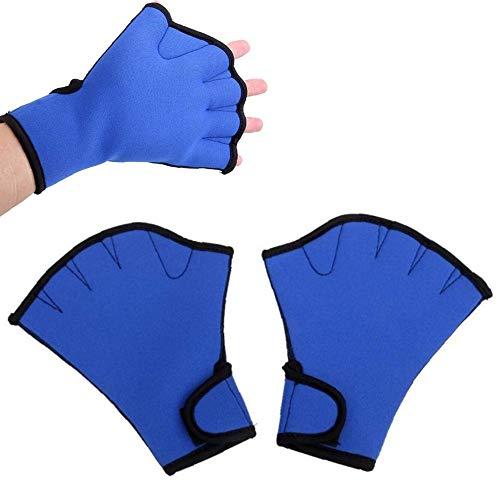 nuluxi Schwimmhandschuhe Schwimmhäute Hochwertige Aqua Fitness Handschuhe Handpaddel Schwimmhandschuhe Wassersport Hand Handschuhe Widerstandstraining Handschuhe für den Oberkörperwiderstand(1 Paar)