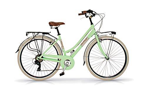 Via Veneto Bicicleta 605 Retro, Aluminio, Mujer, Paseo, Vintage, Color Verde Giulietta, by Airbici