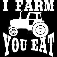 車用ステッカー・デカール 15.2CM 16.8CMは農業トラクター農業面白い車のステッカー車のスタイリングアクセサリーxは BJRHFN (Color : White)
