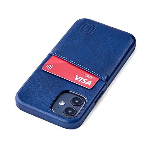 Dockem Exec M2 Funda Cartera para iPhone 12 Mini: Funda Tarjetero Slim con Placa de Metal Integrada para Soporte Magnético: Serie M [Azul Marino]
