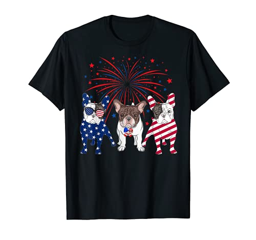American Flag 4th Of July French Bulldog Dog Lovers T-Shirt