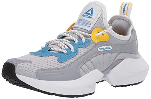 Reebok Men's Sole Fury Cross Trainer, Grey/Cyan/Toxic Yellow, 11.5 M