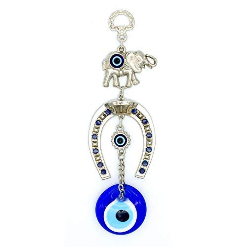 Demiwares Evil Eye Protection Charm, Lucky Horseshoe...
