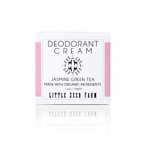 Little Seed Farm All Natural Deodorant Cream, Aluminum Free Activated Charcoal Deodorant for Women or Men, 2.4 Ounce - Jasmine