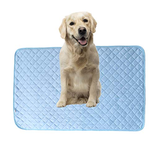 BOENTA Alfombrilla Refrigeracion Animales Manta Fria para Perros Genial Cama del Perro Almohadillas de Entrenamiento Perro Estera Fresca L