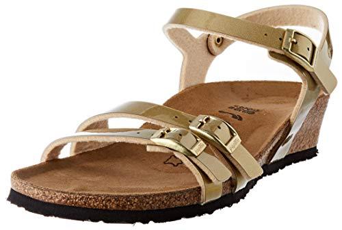 Papillio Damen Lana Birko-Flor Metallic Gold Sandale mit Absatz, 37 EU