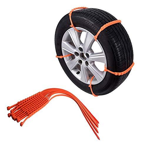 10PCS 40PCS auto anti-slip Chain sneeuw Mud wiel band Verdikte Tire Tendon Winter Anti-Skid Veiligheid Driving Tire,40pcs