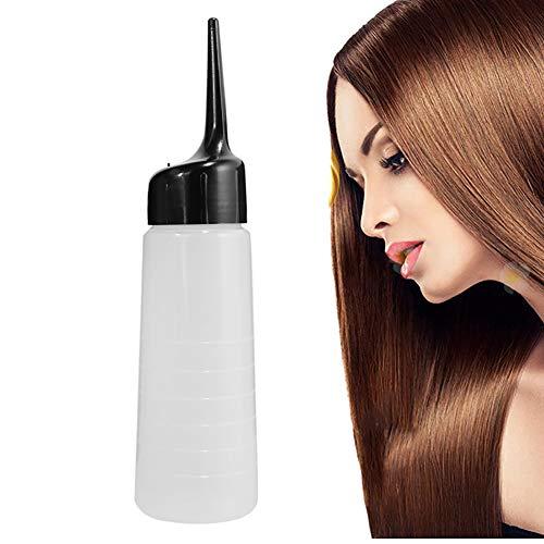 Hilai Pointe de précision vide applicateur colle bouteille salon de nettoyage des cheveux pot de lavage longue pointe applicateur bouteille pour applicateur de couleur de cheveux (5 oz) 1 PC