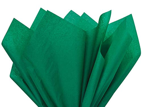 Emerald Green Tissue Paper 15 Inch X 20 Inch - 100 Sheets Premium Tissue Paper A1 bakery supplies Made in USA
