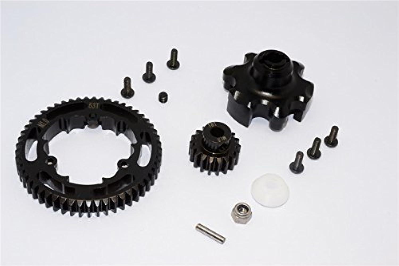 Traxxas XMaxx 4X4 Tuning Teile Aluminium Gear Adapter + Steel Spur Gear 53T + Motor Gear 18T (For XMaxx 6S Only)  1 Set Black