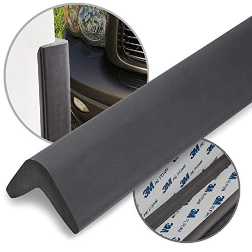 urbanhouse Ultra High-Density Heavy Duty Corner Guard Edge Protector & Bumper for Parking Garages, Workshops and Warehouses - Dark Grey, 24 Inches - 1 Each