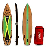CALA Inflatable Standup Paddle Board (6 Inches Thick) Non-Slip Deck with Wheels Backpack, Fiberglass Paddle, Double Action Hand Pump & Premium SUP Accessories, Leash & Repair Kit