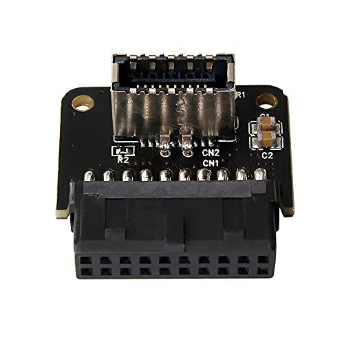 Qalabka Placa base USB 3.0 de 19 pines a tipo E adaptador convertidor sin controlador de alta velocidad Plug and Play (PH73A)