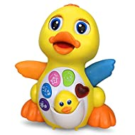 Early Education 18 Months Old Baby Toy Musical Dancing Duck Toy Lights Action Flashing Lights Musica...