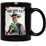 Who Shot JR Ewing Dallas South Fork Drama Tv 70s 80s Funny Coffee Mug for Women and Men Tea Cups ()