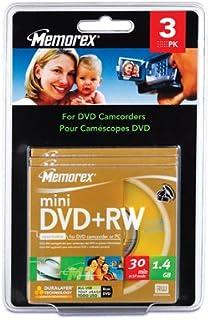 Imation 4x DVD+RW Media - 1.4GB - 80mm Mini - 3 Pack Blister Pack