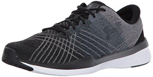 Under Armour Men's Micro G Pursuit Running Shoe Sneaker, Black (001)/Steel, 8