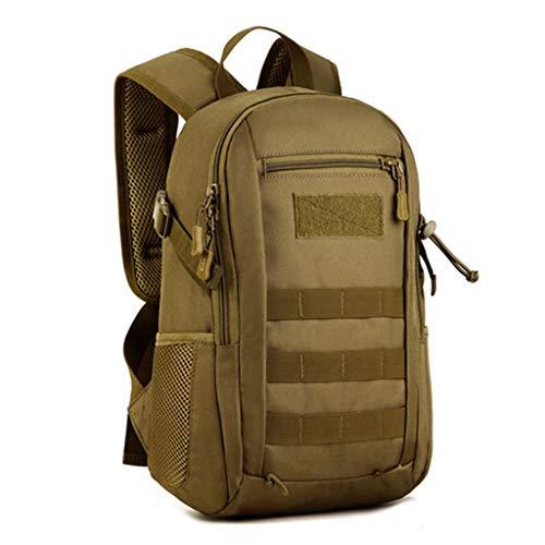 HUNTVP 20L Mochila de Asalto Militar Táctical Molle Bolsa Bandolera para Senderismo Caza Camping - Color Marrón