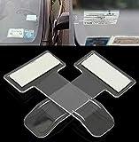 Gaocheng porta carte di parcheggio porta biglietti per fatture auto clip per licenza clip per finestra per parabrezza dell'autoadesivo 5pcs white