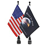 E-Most 6x9'' American Eagle Flags for Motorcycles Flag Mounts and Flags Flagpole, Fit for Harley Davidson Honda 750 Shadow Goldwing CB VTX CBR Yamaha