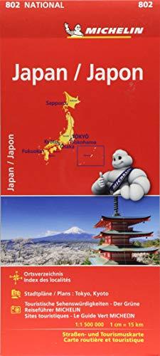 Michelin Japan: Straßen- und Tourismuskarte 1:1.500.000 (MICHELIN Nationalkarten)