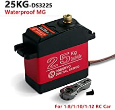 ZOSKAY Waterproof High Torque Metal Gear Standard Digital Servo 25KG/0.13S 6.8V for 1/8 1/10 RC Cars(Control Angle 180)