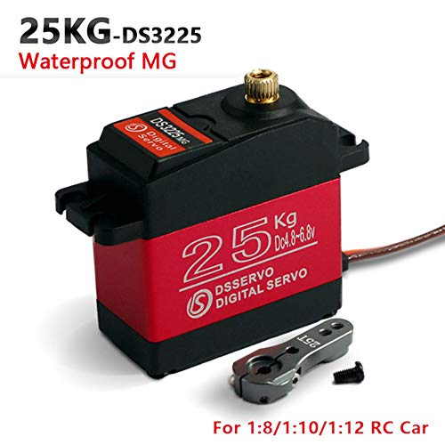 ZOSKAY Servo High Torque Metal Gear Standard Digital Servo 25KG/0.13S 6.8V for 1/8 1/10 RC Cars(Control Angle 180)