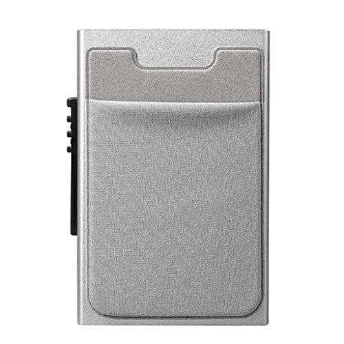 BAYUE Mannen Zakelijke Aluminium Portemonnee met Achterzak Cash ID Kaarthouder Blokkeren Slank Metalen Portemonnee Automatische Pop Card ZILVER