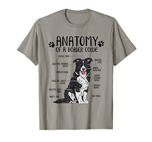 Lustiges Border Collie Geschenk Hundehalter Anatomie Hund T-Shirt