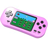 Douddy Kids Retro Handheld Game Console Built in 218 Old School Video Games 2.5'' Display USB Rechargeable 3.5 MM Headphone Jack Arcade Entertain System Children Birthday Christmas Gift (Pink)