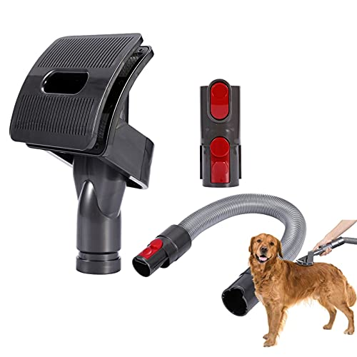 TPL Pet Groom Tool Accessorio Compatibile con Dyson V11 V10 V8 V7 V6 Adattatore Convertitore Aspirapolvere, Tubo Di Prolunga Attacco, Spazzola Per La Pulizia Degli Animali Per Cani A Pelo Medio Lungo