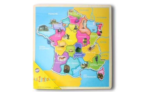 MGM - 050774 - Jouet de Premier Age - Carte France Bois GM - 30 x 28 cm