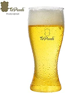 ToPanda Weizen Craft Beer Glass (2 pcs box pack, Tritan Plastic, BPA Free) Cocktail Cup Beer Mug For Outdoor Indoor Barware Party Home 400mL (Personalized Engraving)